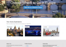 A Journey to Europe Website Template